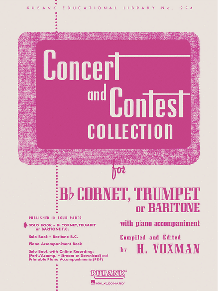 Concert and Contest Collection for Cornet or Trumpet