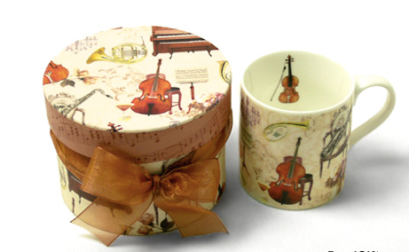 Mug with Gift Box - Elegant Music Design