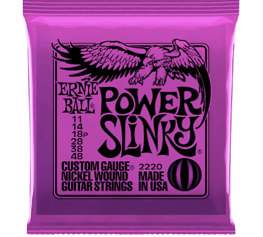 Ernie Ball 2220 Power Slinky Nickel Electric Guitar Strings (11‑48)