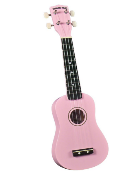 Diamond Head DU-110 Rainbow Soprano Ukulele - Pink