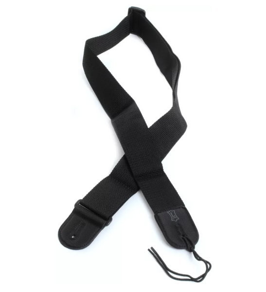 "Levy's M8POLY 2"" Woven Poly Guitar Strap - Black"