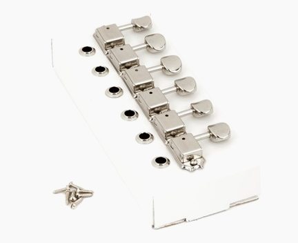 Fender, AMERICAN VINTAGE STRATOCASTER®-TELECASTER® TUNING MACHINES, Nickel