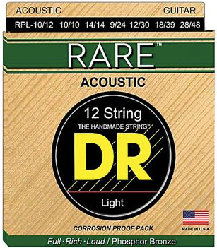 DR Strings - RARE Lite 12 String Set .010-.048 Gauge