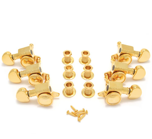 Grover Gold 3 x 3 Roto-Grip Mini Locking Guitar Tuners 505G