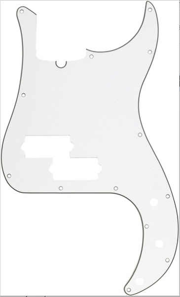 Fender 13-Hole Multi-Ply Precision Bass® Pick Guard White