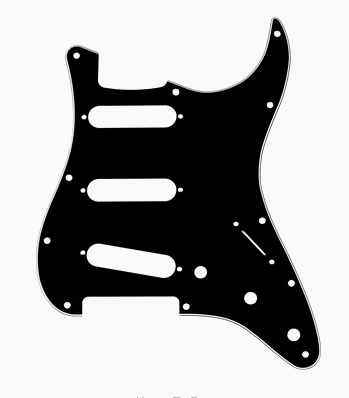 Fender 11-Hole Stratocaster® S/S/S Pick Guard Black