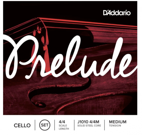 D'Addario Prelude Cello String Set 4/4 Size