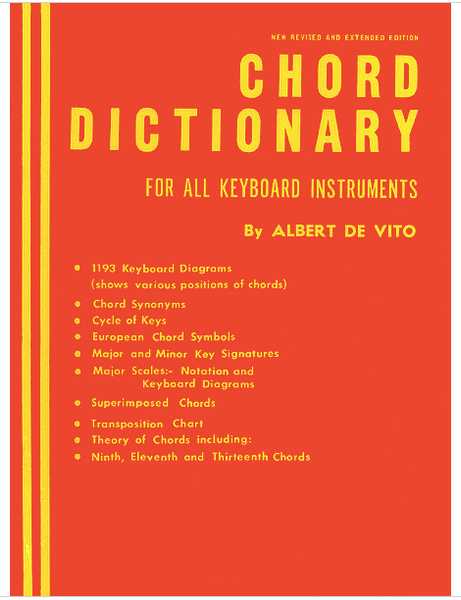 Chord Dictionary For all Keyboard Instruments