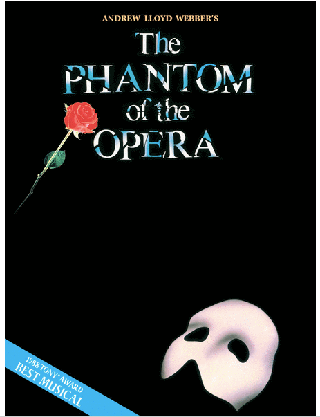 The Phantom of The Opera for Voice and Piano