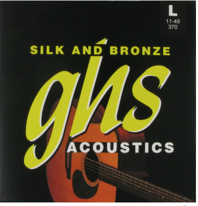 GHS Acoustic Guitar Silk & Bronze Light 6 Strings, .011 - .049, 370
