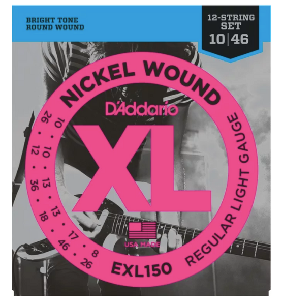 D'Addario EXL150 Nickel Wound Light 12-String Electric Strings