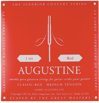 Augustine Classical Red, Medium Tension
