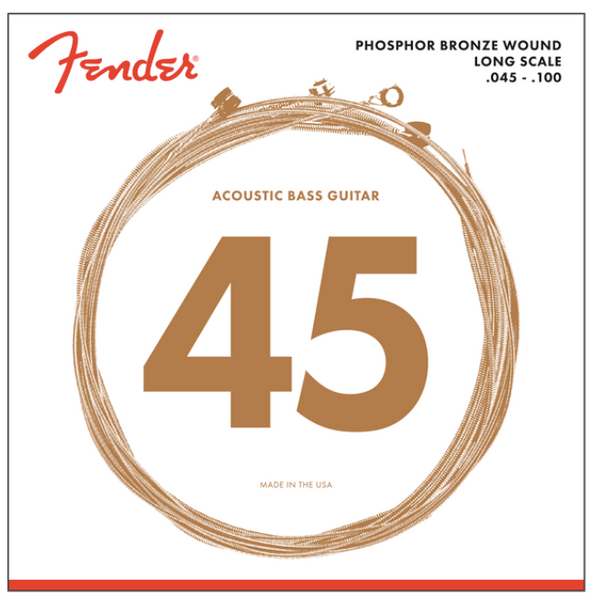 Fender 8060 PHOSPHOR BRONZE ACOUSTIC BASS STRINGS - LONG SCALE