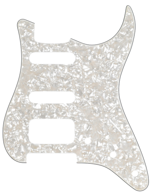 Fender 11-HOLE MODERN-STYLE STRATOCASTER® H/S/S PICKGUARDS, Aged White
