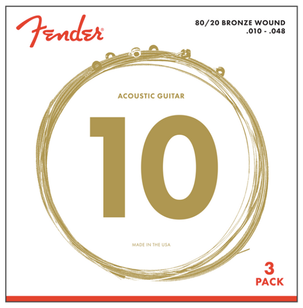 80/20 BRONZE ACOUSTIC STRINGS - 3-PACK