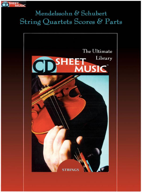 CD Sheet Music The Ultimate Library String Quartets Scores & Parts
