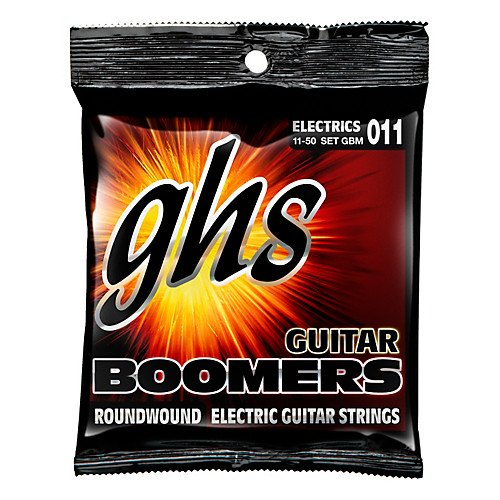 GHS Boomers Roundwound GBM Medium Electric Guitar Strings- 11-50