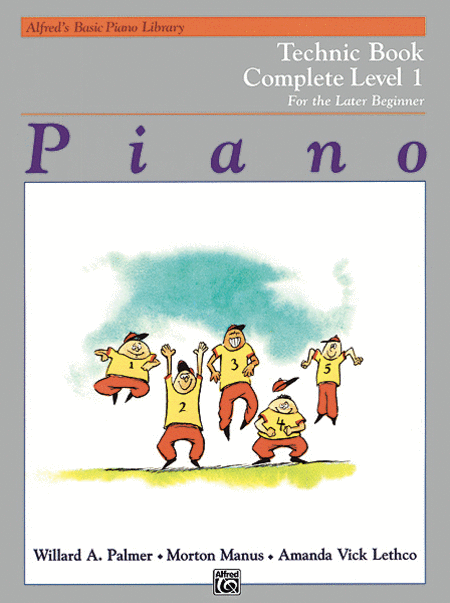 Alfred's Basic Piano Course - Technic Book - Complete Level 1
