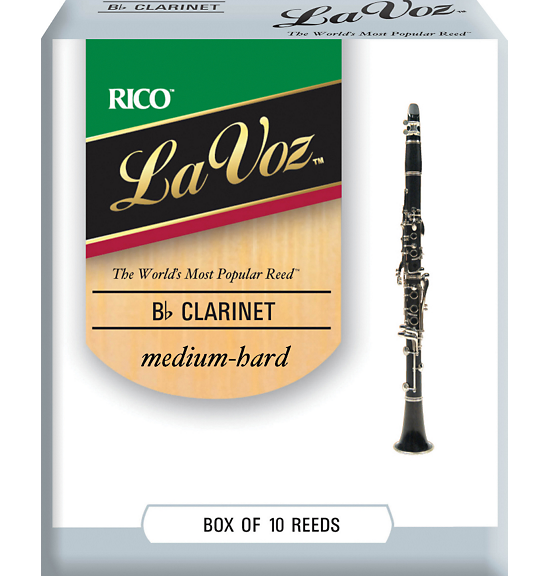 Rico La Voz Bb Clarinet Reed Medium Hard Box 10