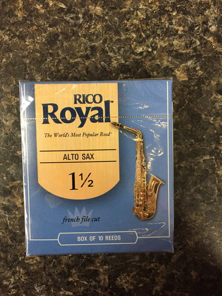 Rico Royal French Cut 1.5 Alto Sax Reeds box 10