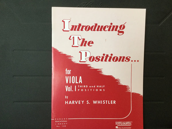 Introducing The Positions for Viola Vol 1