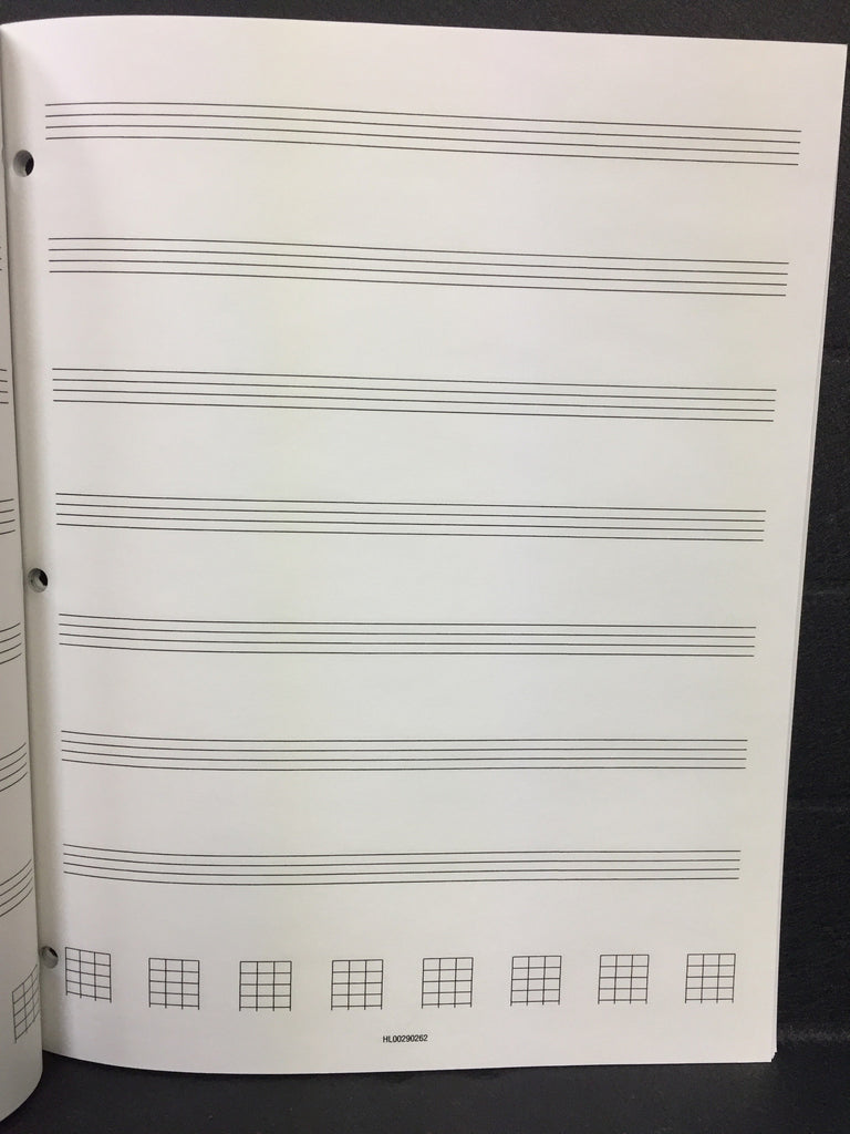 Bass Guitar Tablature Manuscript Paper