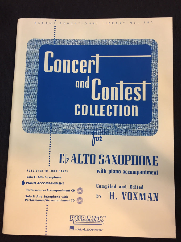 Concert And Contest Collection For Eb Alto Saxophone With Piano Accompaniment