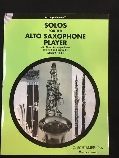 Solos For The Alto Saxophone Player Accompaniment CD