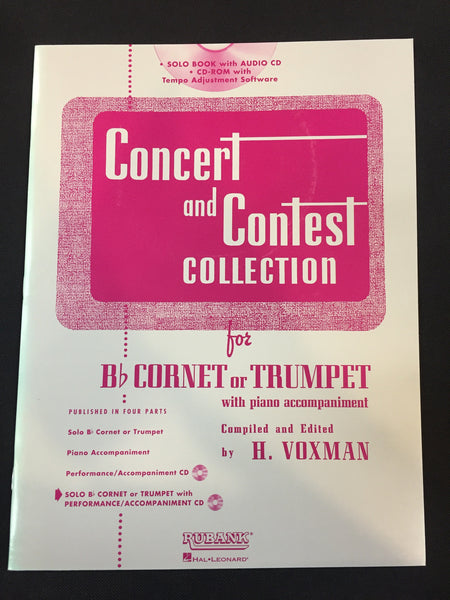 Concert And Contest CollectionFor Bb Trumpet Or Cornet With Piano Accompaniment