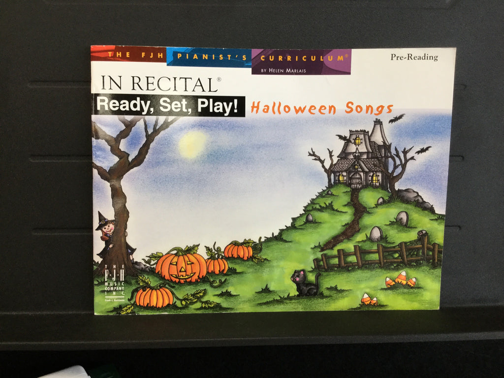 In Recital Ready, Set, Play Halloween Songs Pre-Reading