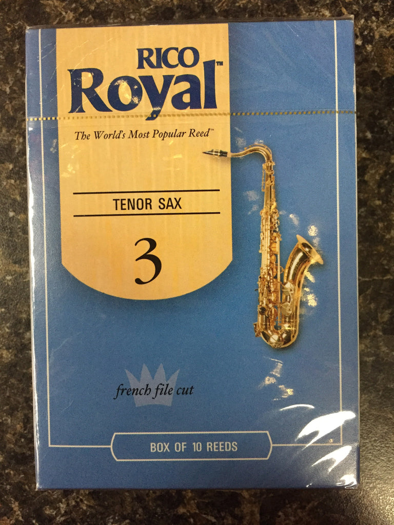 Rico Royal French Cut Tenor Sax Reed size 3 box 10