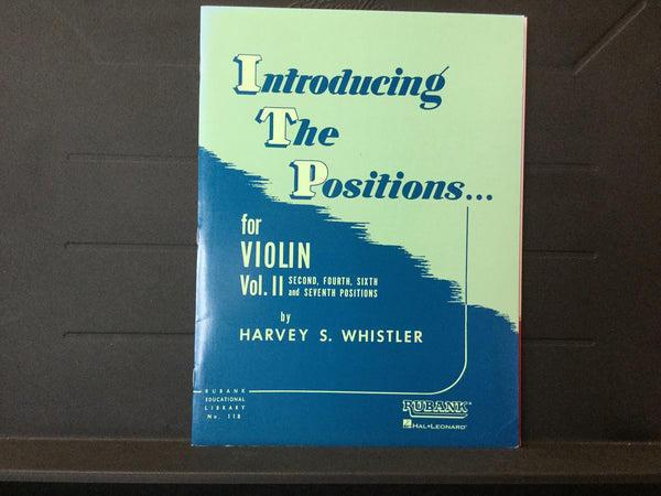 Introducing The Positions for Violin Volume 2