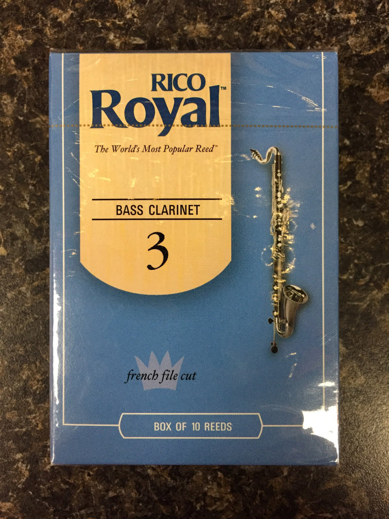 Rico Royal French Cut Bass Clarinet Reeds box 10