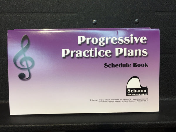 Progressive Practice Plans Schedule Book