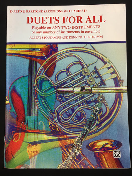 Duets For All- Alto Saxophone (E-flat Saxes & E-flat Clarinets) Book