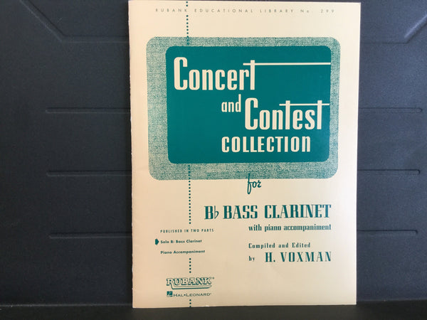 Concert and Contest Collection for Bass Clarinet