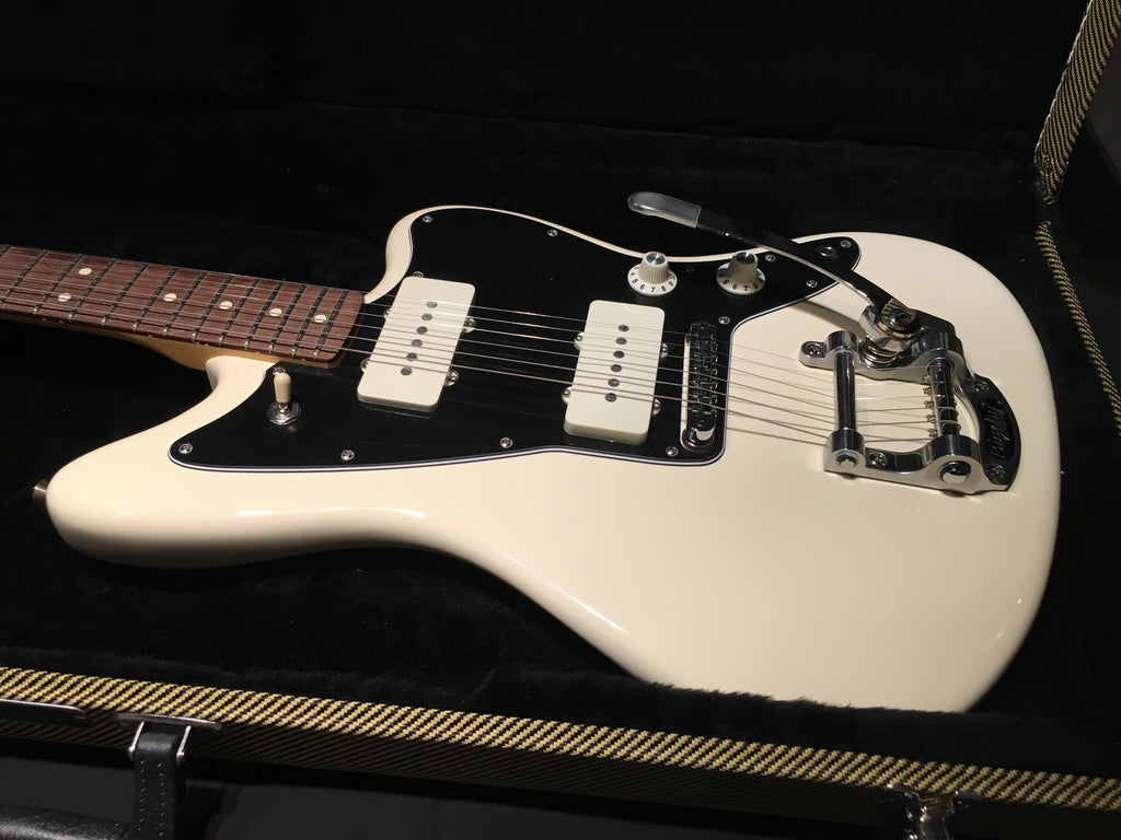 Fender American Special Jazzmaster with Bigby Vibrato Olympic White