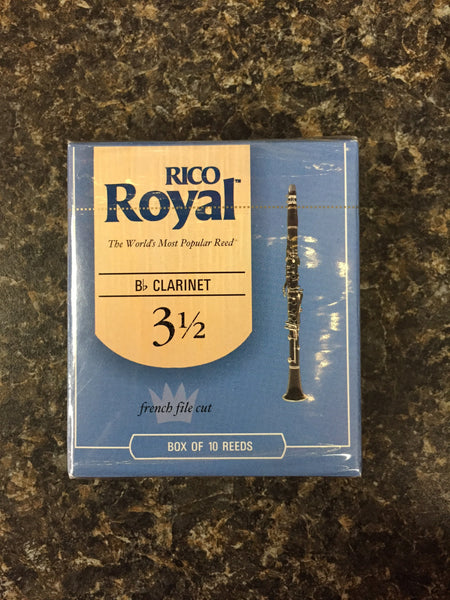 Rico Royal French Cut Clarinet Reed 3.5 box 10
