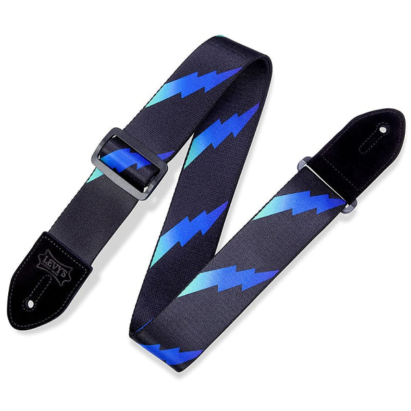 Levy's Leathers MPRB2-004 Print Series Rainbolt Guitar Strap