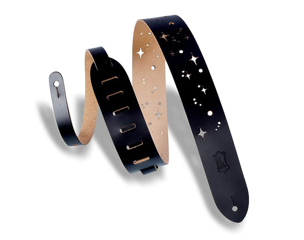 Levy's M12GSC-BLK Galaxy Punch Out Guitar Strap