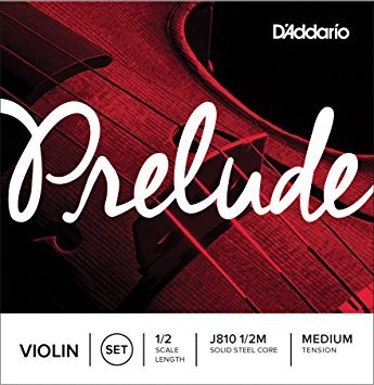 D'Addario Prelude Violin String Set, 1/2 Scale, Medium Tension