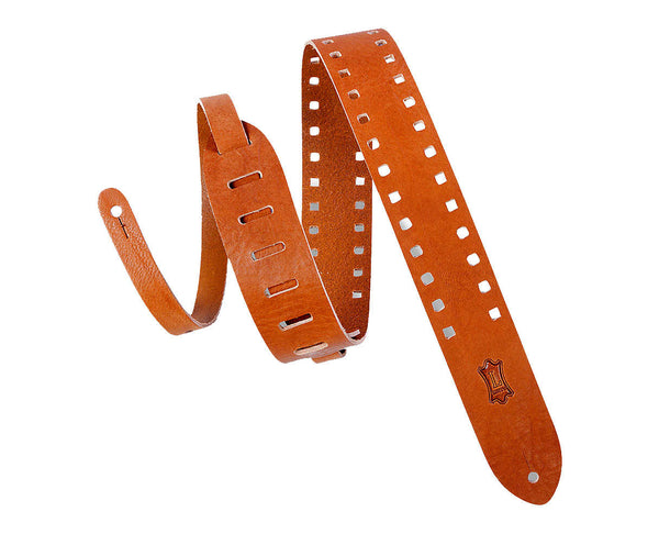 "Levy's Leathers M12SPOV-TAN 2"" Wide Tan Veg-Tan Leather Guitar Strap"