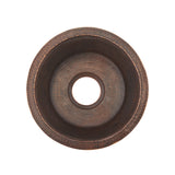 "BR14DB3 - 14"" Round Hammered Copper Prep Sink W/  3.5"" Drain Size"