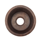 "BR16DB3 - 16"" Round Hammered Copper Prep Sink W/ 3.5"" Drain Size"