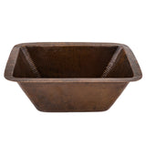 "BRECDB2 - Rectangle Copper Bar Sink w/  2"" Drain Size"