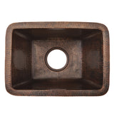 "BRECDB3 - Rectangle Copper Prep Sink w/  3.5"" Drain Size"