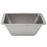"BRECEN2 - Rectangle Copper Bar Sink in Electroless Nickel w/ 2"" Drain Size"