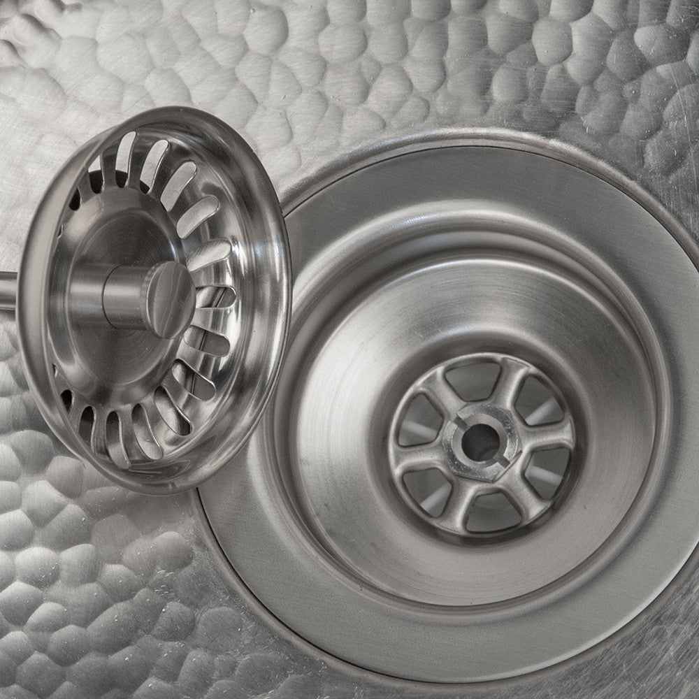 "D-132BN - 3.5"" Kitchen, Prep, Bar Basket Strainer Drain - Brushed Nickel"