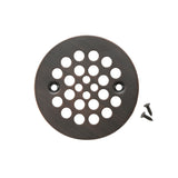 "D-415ORB - 4.25"" Round Shower Drain Cover in Oil Rubbed Bronze"