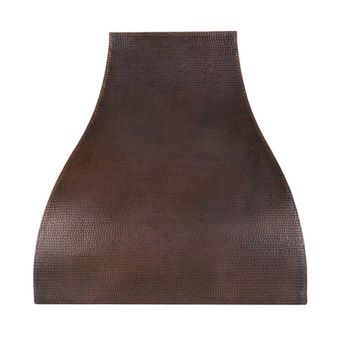 "36"" Hand Hammered Copper Wall Mounted Campana Range Hood"